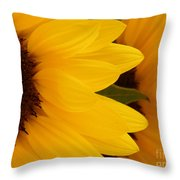 French Sunflowers Throw Pillow