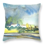 French Village 01 Throw Pillow