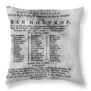 French/dutch Dictionary Throw Pillow