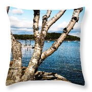 Frenchman Bay Throw Pillow