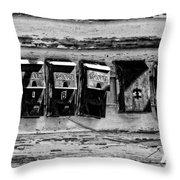 Freret Street Mailboxes - Black And White -nola Throw Pillow