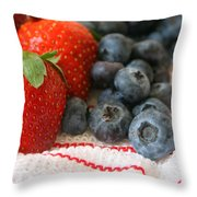 Fresh Berries Throw Pillow