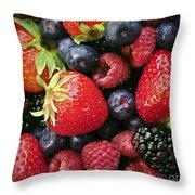 Fresh Berries Throw Pillow