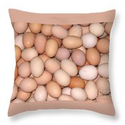 Fresh Country Eggs Throw Pillow