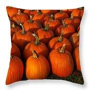 Fresh From The Farm Orange Pumpkins Throw Pillow