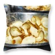 Fresh Potato Chips Throw Pillow