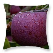 Fresh Red And Ready Throw Pillow