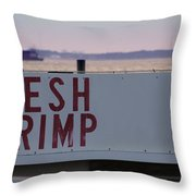 Fresh Shrimp Throw Pillow