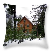 Fresh Snow Glory Throw Pillow
