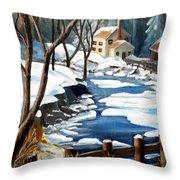 Fresh Snow In Virginia Throw Pillow
