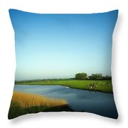 Fresian Cattle, Near Cobh, Co Cork Throw Pillow by The Irish Image Collection