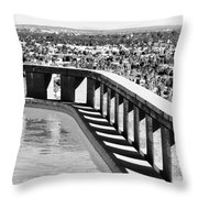 Frey Pool Bw Palm Springs Throw Pillow