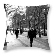 Friday In The City Throw Pillow