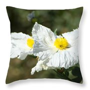 Fried Egg Flowers Throw Pillow