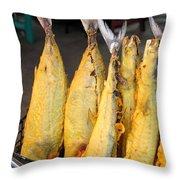 Fried Fish Throw Pillow