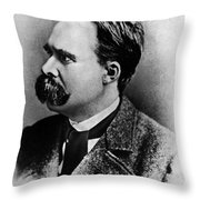 Friedrich Wilhelm Nietzsche, German Throw Pillow