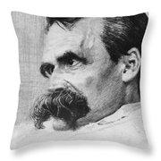 Friedrich Wilhelm Nietzsche, German Throw Pillow by Photo Researchers