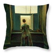 Friedrich Woman 1822 Throw Pillow