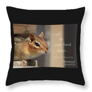 Friend For Peanuts Throw Pillow