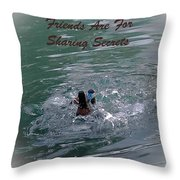 Friends Are For Sharing Secrets Throw Pillow by DigiArt Diaries by Vicky B Fuller