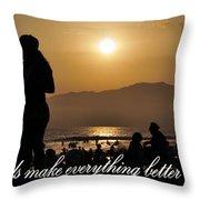 Friends Make Everything Better Throw Pillow