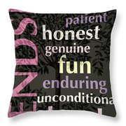 Friendship Throw Pillow by Bonnie Bruno
