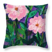 Friendship In Flowers Throw Pillow