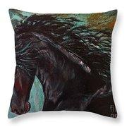 Friesian Frolic Series 3 Throw Pillow