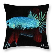 Frilled Blue Moonstone Throw Pillow