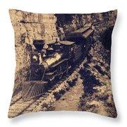 Frisco Steam Train Throw Pillow