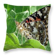 Frittary Among The Green Throw Pillow