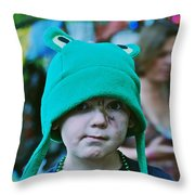 Frog Hat Throw Pillow