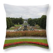 Frogner Park Throw Pillow