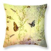Frolicing Butterflies Throw Pillow