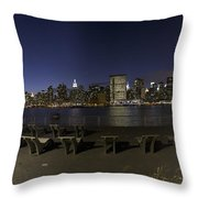 From Gantry At Night Throw Pillow