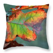From Greeen To Rust Throw Pillow