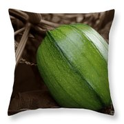 From Green To Orange Throw Pillow by Luke Moore