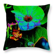 From The Psychedelic Garden Throw Pillow