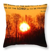 From The Rising Throw Pillow