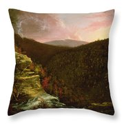 From The Top Of Kaaterskill Falls Throw Pillow by Thomas Cole