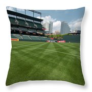 From The Visitors Dugout Throw Pillow