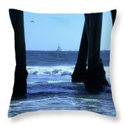 From Under The Pier Throw Pillow