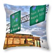 From Usa To Can Throw Pillow