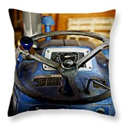 From Where I Sit Tractor Throw Pillow