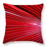 Frond Of Red Throw Pillow