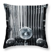 Front Grid Throw Pillow