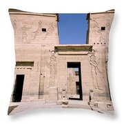 Front Of Philae Wall Throw Pillow