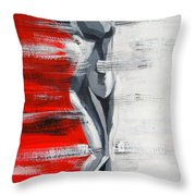Front View In The Three Colors Throw Pillow