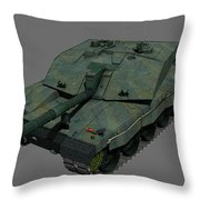 Front View Of A British Challenger II Throw Pillow
