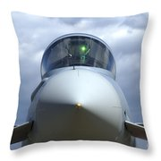Front View Of A Eurofighter Typhoon Throw Pillow